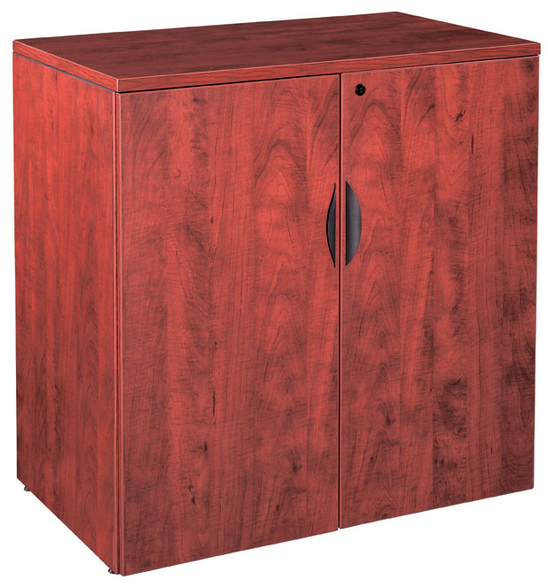 New Wood Laminate 36 Tall 2 Door Storage Cabinet With Lock