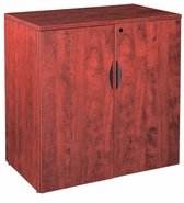 "New Wood Laminate - 36"" Tall 2 Door Storage Cabinet with lock."