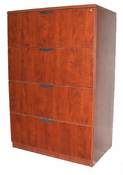 New Wood Laminate – 4 drawer Lateral file with lock.