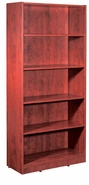 New Wood Laminate - 5 Shelf Bookcase with fixed Shelves.