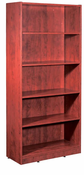 New Wood Laminate – 5 Shelf Bookcase with fixed Shelves.