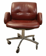 Set of 9 - Leather Steelcase 454 chairs
