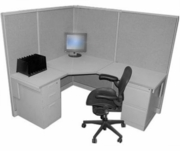 Refurbished 5x6 Tall wall Cubicles