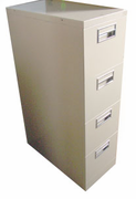 Tan 4-drawer Vertical
