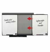 Two-sided mobile dry-erase boards