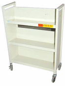 Used Metal Book Cart