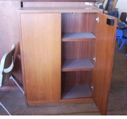 Used Steelcase Wood Storage Cabinet
