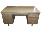 Used Vintage Retro Steelcase Tanker style Double Pedestal desk