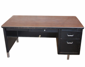 Used Vintage Retro Steelcase Tanker style Single Pedestal desk
