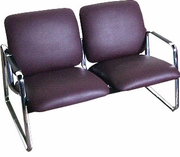 USED - Wine Vinyl Double Seat Guest Chair