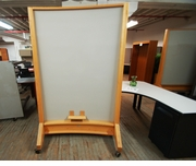 Used Wood Mobile Dry Erase Board