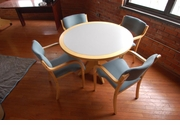 "Wood 42"" Round  table set"