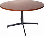 Woodgrain Laminate Round Table