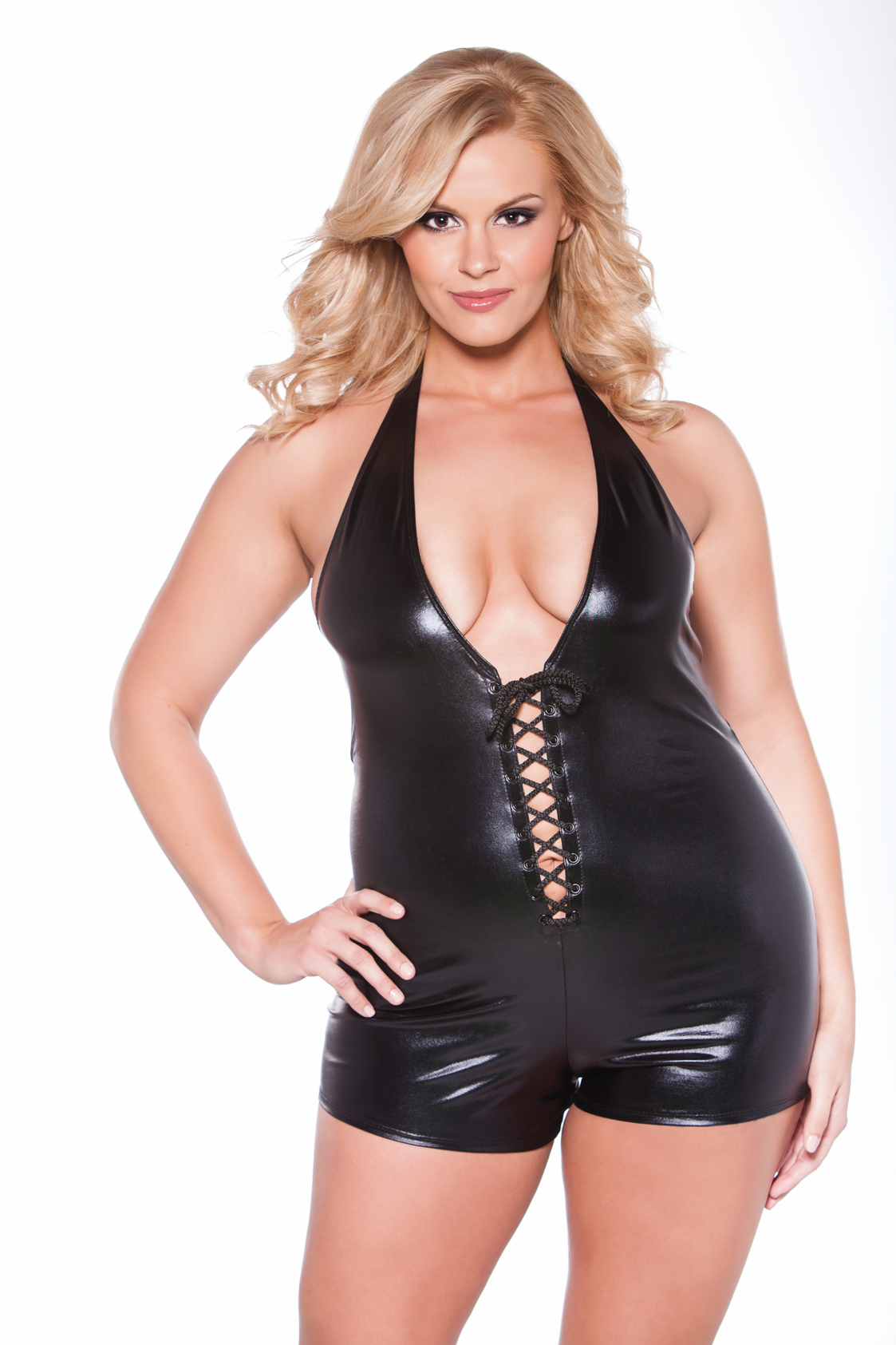 10-8402XK Plus Size Naughty Kitten Jumper by Allure Lingerie