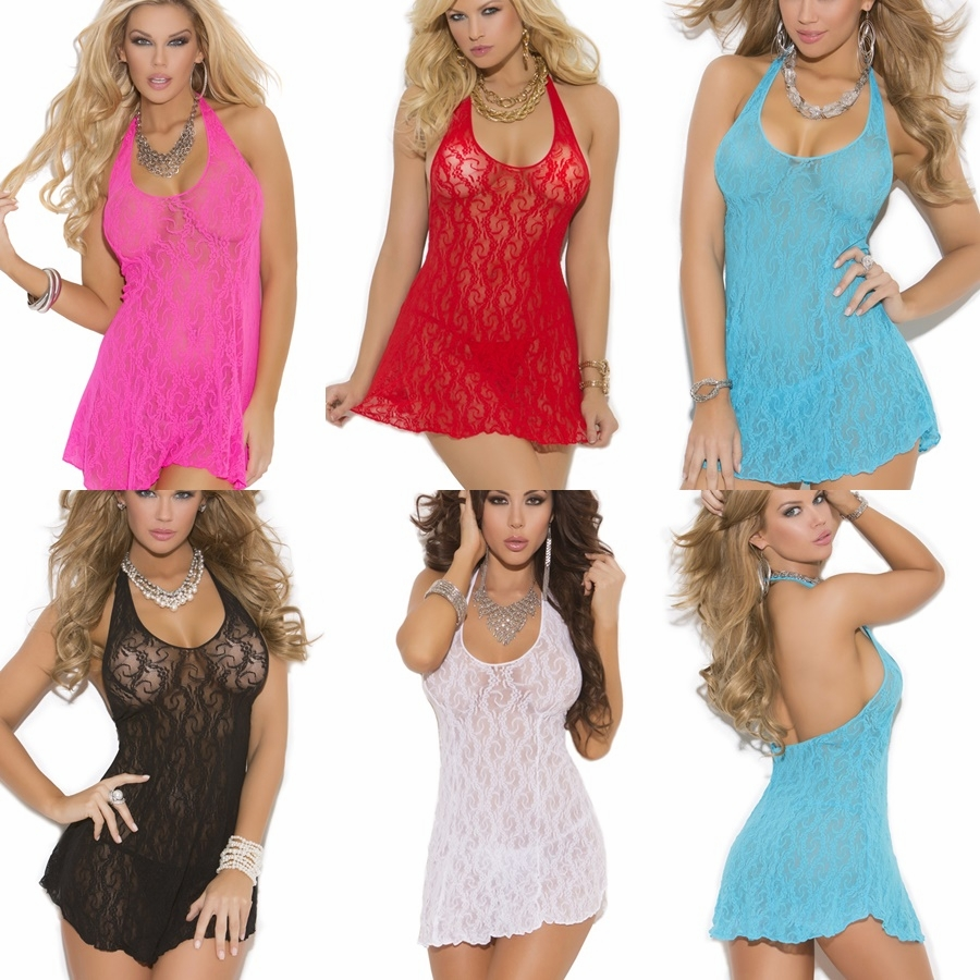 1422 Sexy Lace Halter Mini Dress by Elegant Moments Sizes S-2x