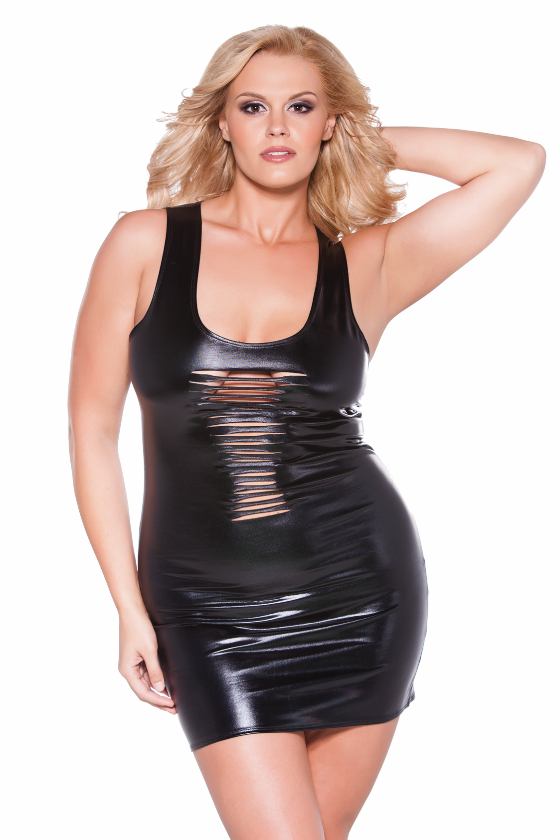 17-1082Xk Plus Size Risqué Kitten Dress by Allure