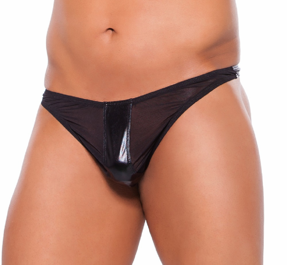 24-5602z  Mens Sexy Wet Look Thong