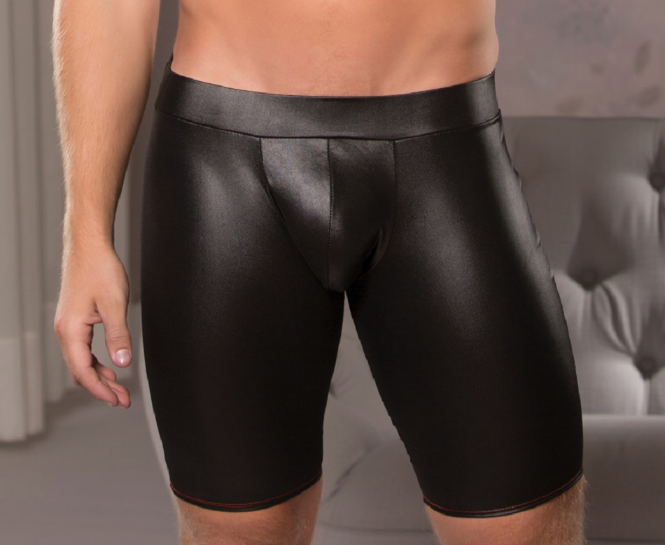 33-7602 Mens Wet Look Cut A Way Shorts by Allure