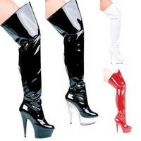 "609- Casino 6"" Heel Pointed Stilletto Thigh High Boots"