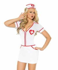9096 Sexy Heart Throb Hottie Nurse Adult Costume by Elegant Moments
