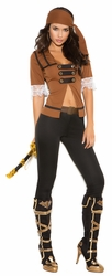 9098 4pc Treasure Pirate Adult Female Costume by Elegant Moments