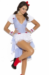 9101 3pc Kansas Cutie Dorthy Adult Costume by Elegant Moments