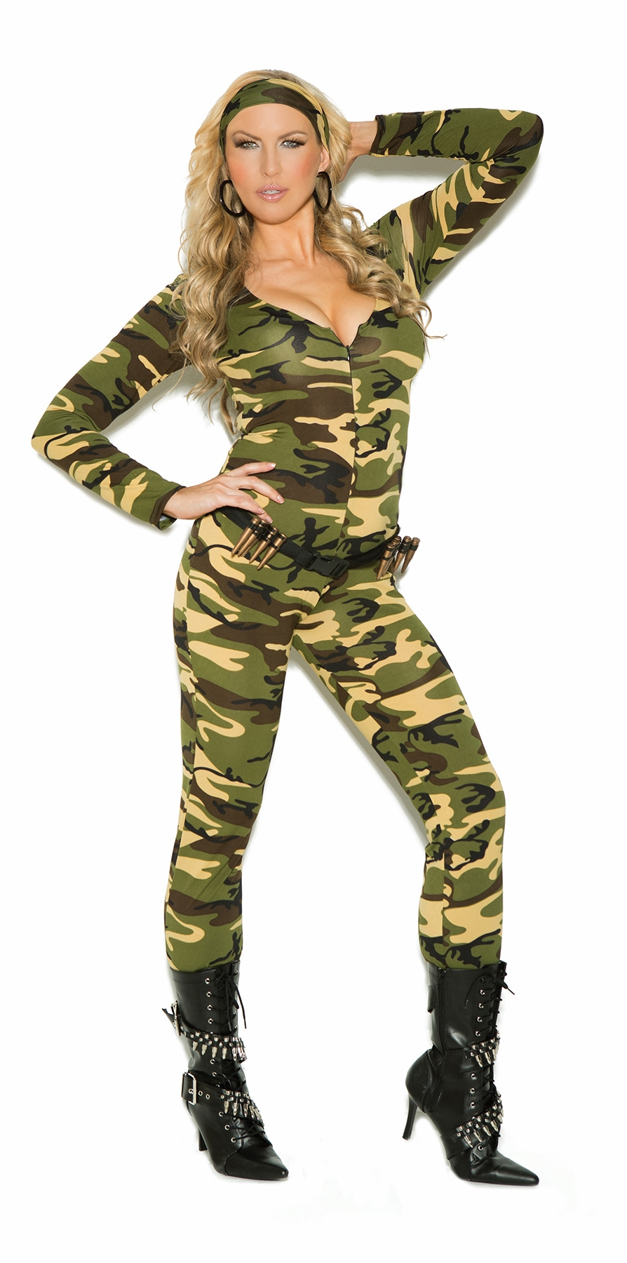 9102 3pc Combat Warrior Camouflage Jumpsuit Costume by Elegant Moments