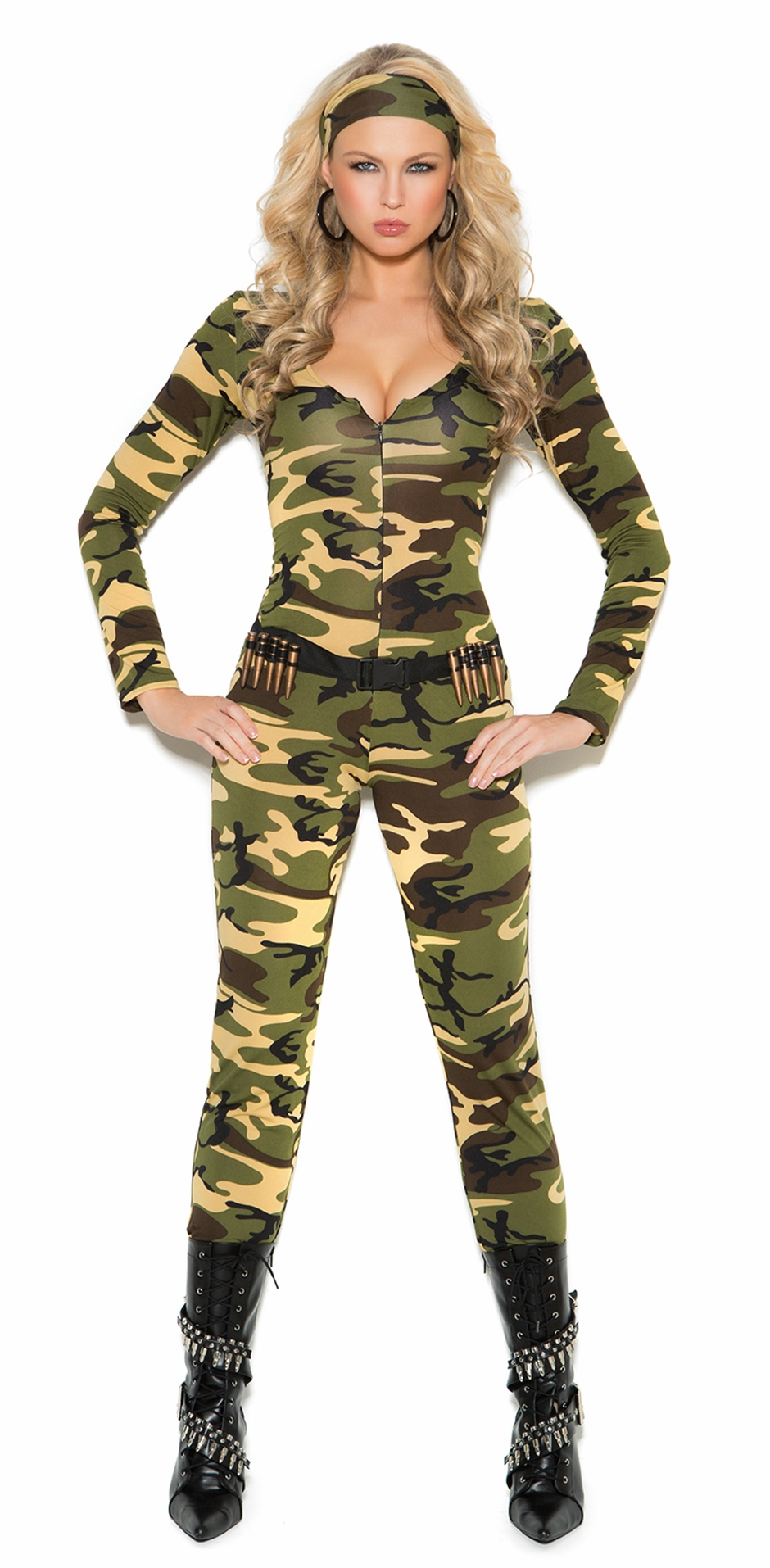 9102x Plus Size Combat Warrior 3pc Jumpsuit Costume