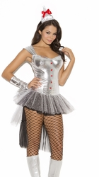 9106 3pc Heartthrob Hannah Tin Man Adult Costume by Elegant Moments