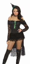 9112 3pc Emerald Nites Witch Adult Costume by Elegant Moments