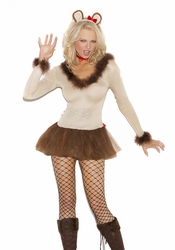 9115 4pc Lioness Adult Costume by Elegant Moments