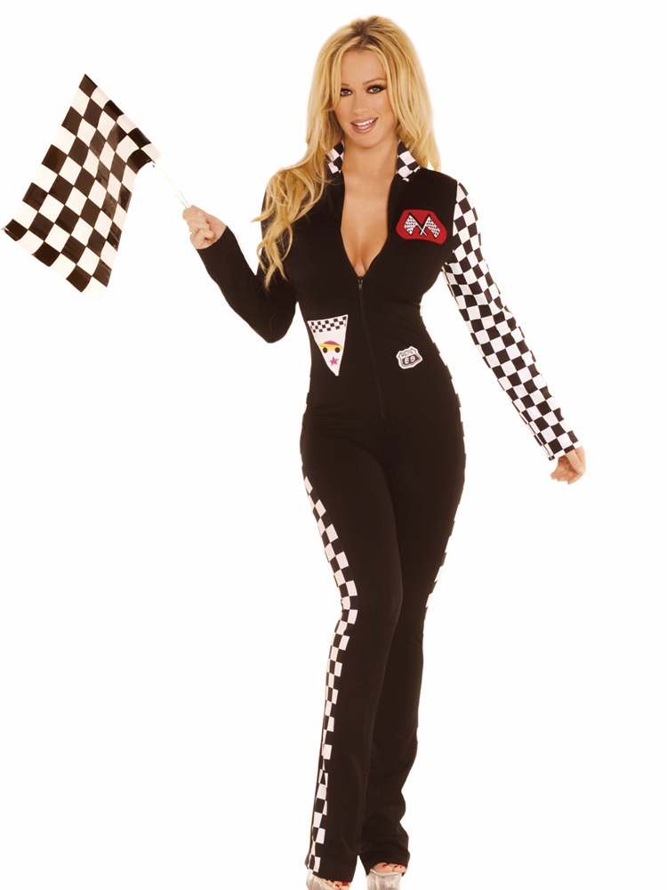 9446 2pc Sexy Race Car Driver Costume by Elegant Moments