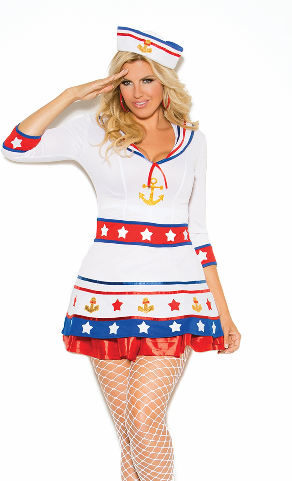 99002x Plus Size Sexy Sailor Adult Costume by Elegant Moments