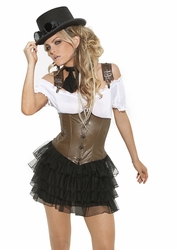 9928 Womens Racy Steampunk Rose Costume S-L