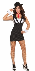 9951 Womens Adult Sexy Gangster Costume by Elegant Moments