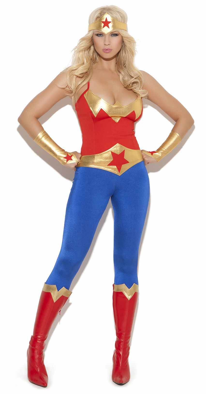9964 Womens 5pc Sexy Super Hero Costume by Elegant Moments