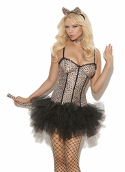 9991 Feline Cat 4pc Costume with Tutu Dress by Elegant Moments