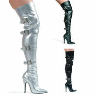 "511-Buckle Up 5"" Heel Stretch Thigh Boot W/Buckles by Ellie Shoes"