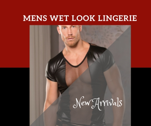 New Arrival Mens Wet Look Lingerie