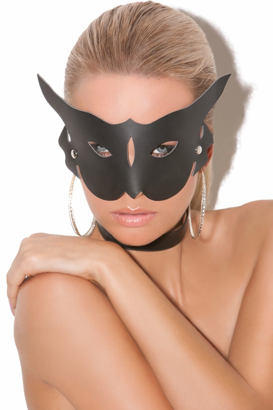 L9156 Leather Cat Mask by Elegant Moments