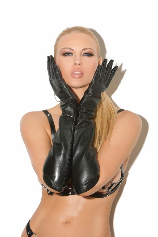 L9419 Long Leather Opera Gloves by Elegant Moments