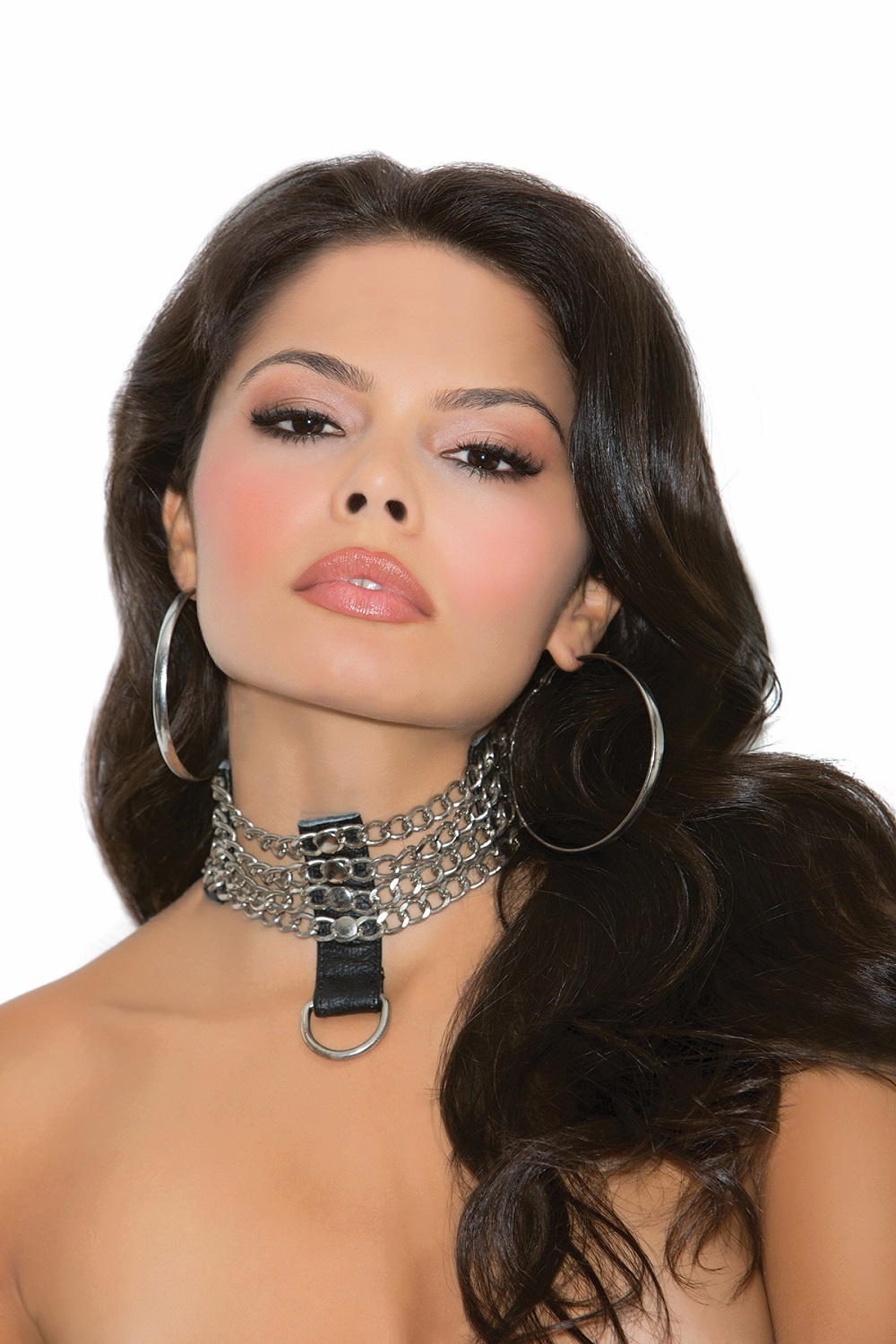 L9731 Leather and Chain Choker OS by Elegant Moments