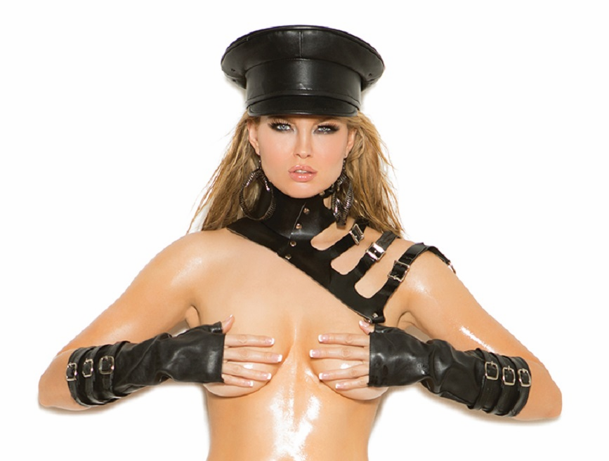 L9756 Leather Posture Collar with Adjustable Buckles OS