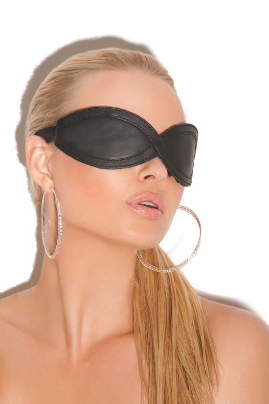 L9987 Leather blindfold by Elegant Moments