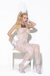 8596 White Lace Body-Stocking by Vivace OS