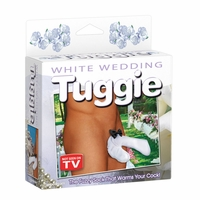 Men's White Wedding Tuggie by Pipedreams