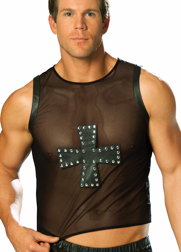 Mens Leather Tops and Shirts