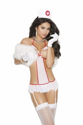 8686 2pc Sexy Nurse Feel Good Bedroom Costume by Vivace OS