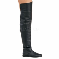 "Raven-8826 3/4"" Heel Leather Thigh Boot by Pleaser"