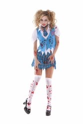 9854 4pc Sexy Zombie School Girl Specter Costume by Elegant Moments
